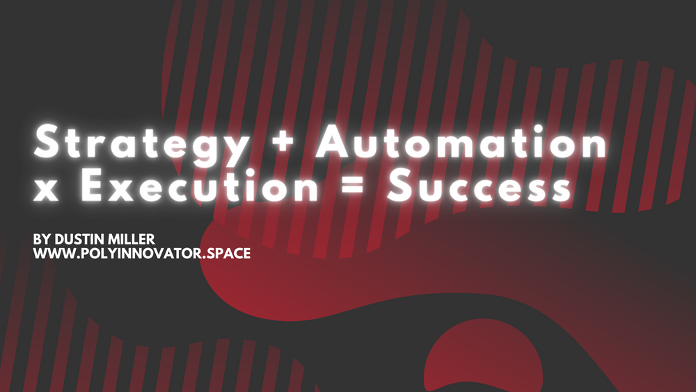 Strategy + Automation x Execution = Success