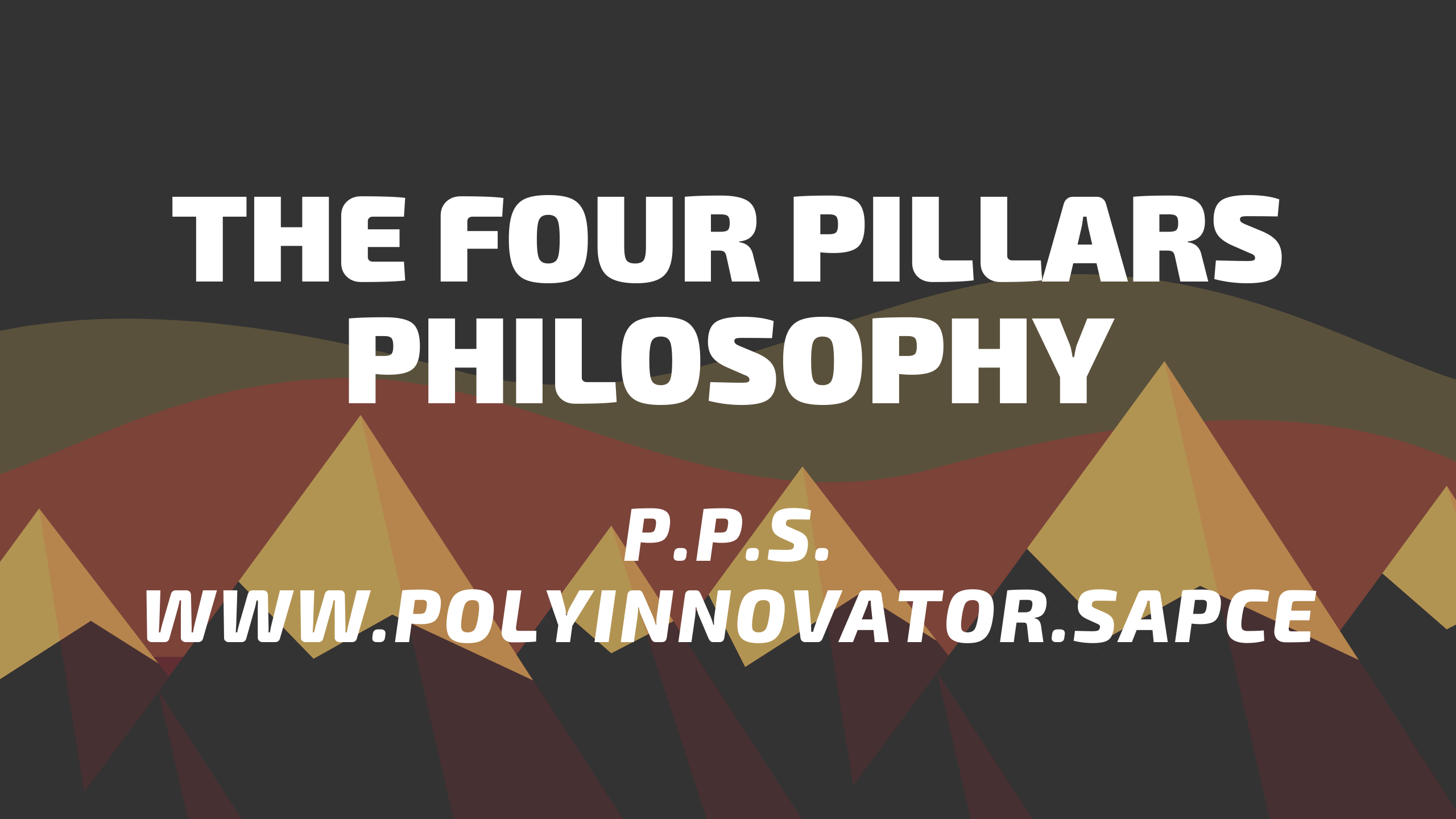 Self-Development | The Four Pillars Philosophy